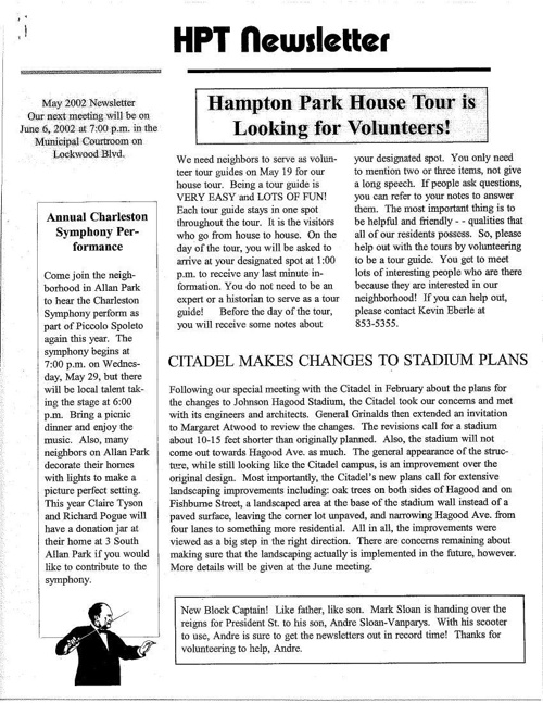 HPT Newsletter May 2002