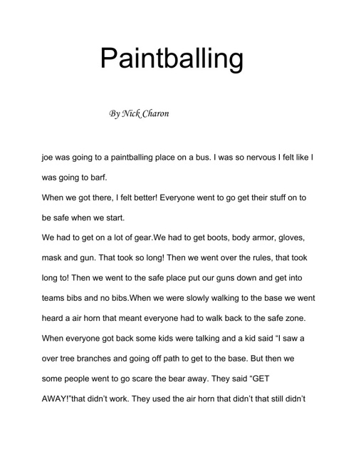 paintballing