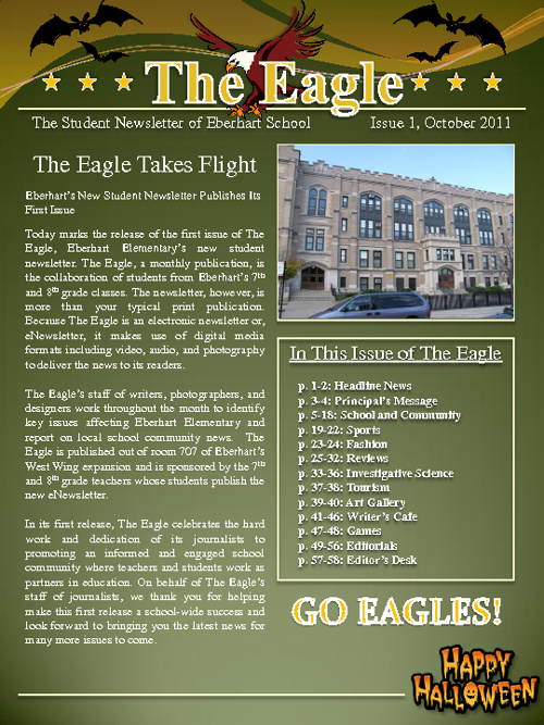 The Eagle, Issue 1, October 2011 Error