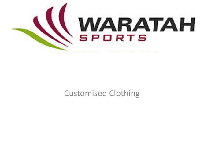 Waratah Sports Custom CLothing