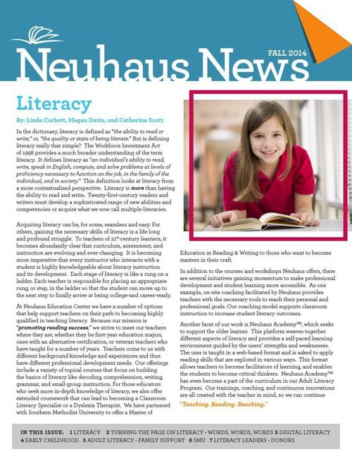 Neuhaus Newsletter September 2014