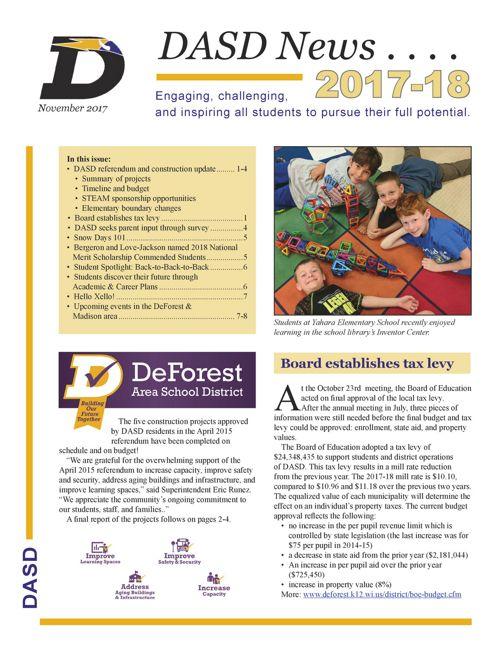 DASD News, November 2017