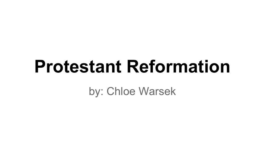 reformation project