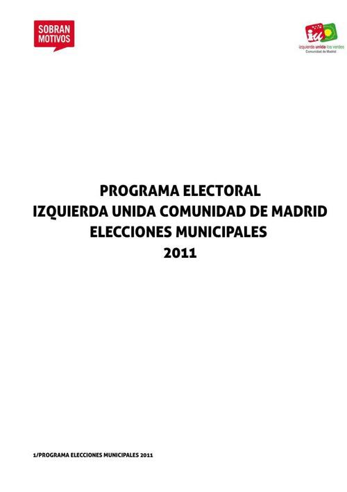 Programa municipales 2011
