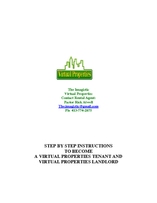The Imagistic Rental and Virtual Property Sign Up Process