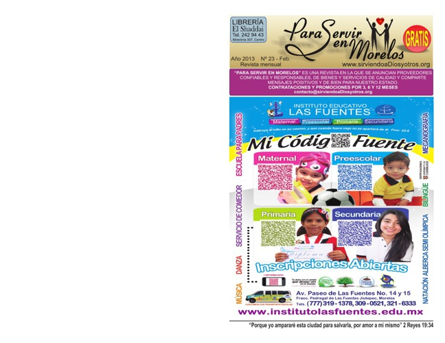Para Servir en Morelos - Febrero 2013