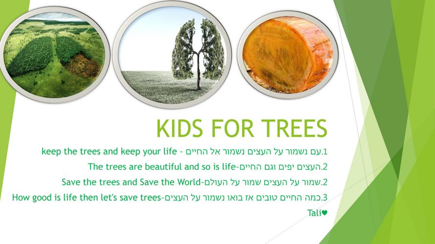 KIDS FOR TREES
