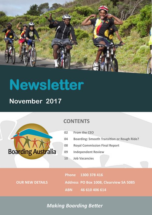 Boarding Australia November 2017 Newsletter