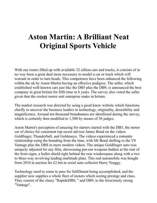 Aston Martin AH