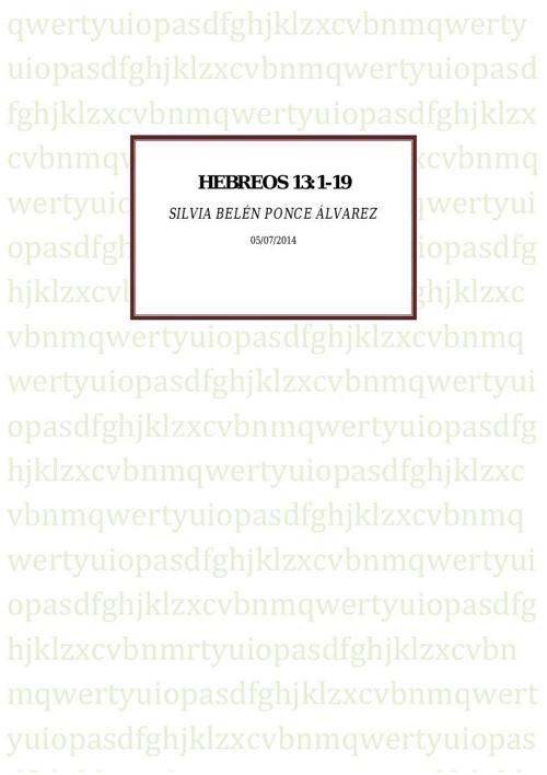 Hebreos 13:1-19