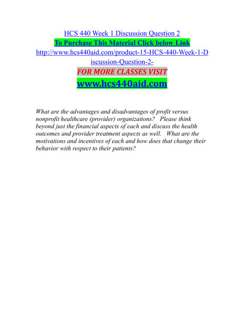 HCS 440 AID Experience Tradition /hcs440aid.com
