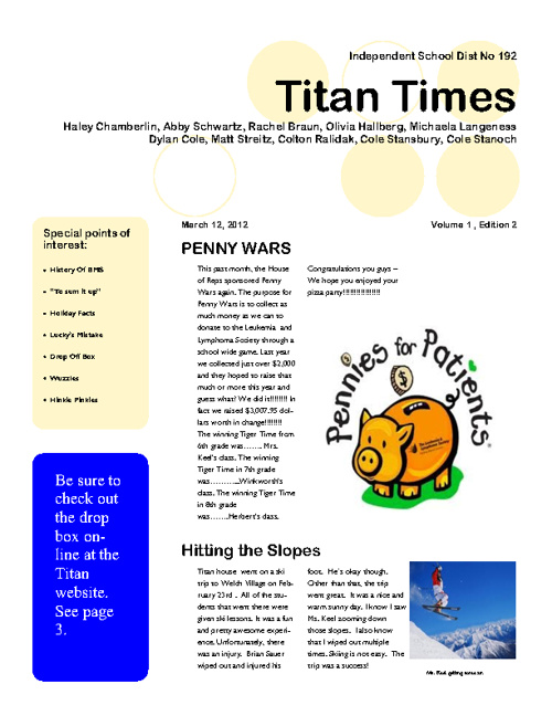 Titan Times- March edition