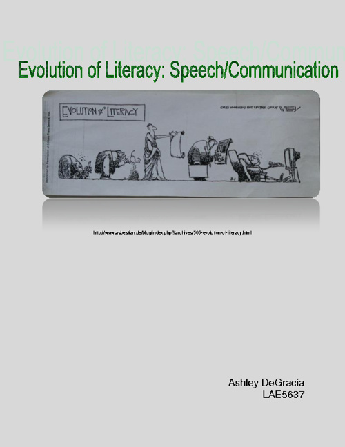 Evolution of Literacy: Speech/Communication