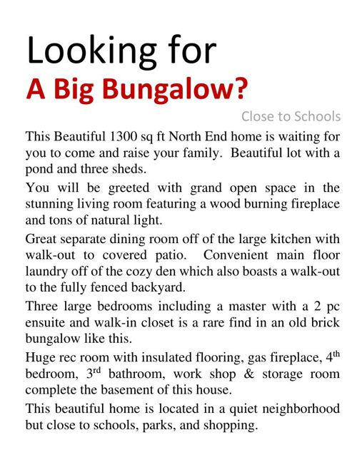 Incredible North End Bungalow