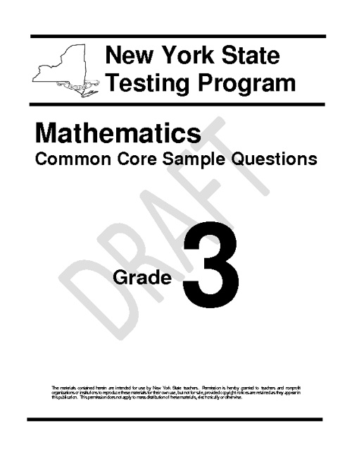 3rd Grade Sample Questions