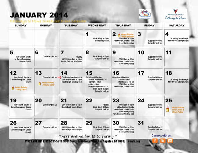 Pathways to Home 2014 Calendar