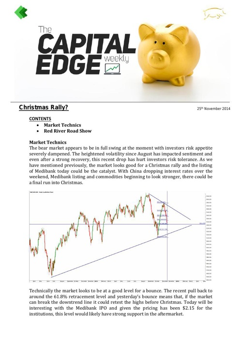 CAP EDGE WEEKLY 25th November