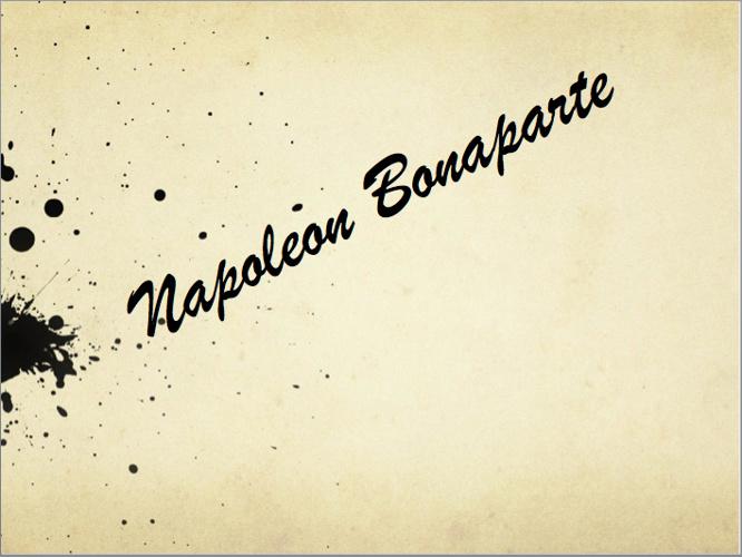 Napoleon Bonaprte