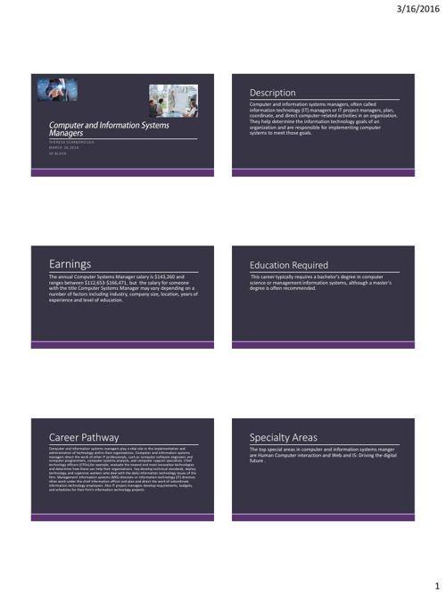 Career Poster Student Samples