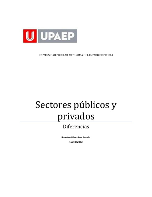 sectores publicos y privados