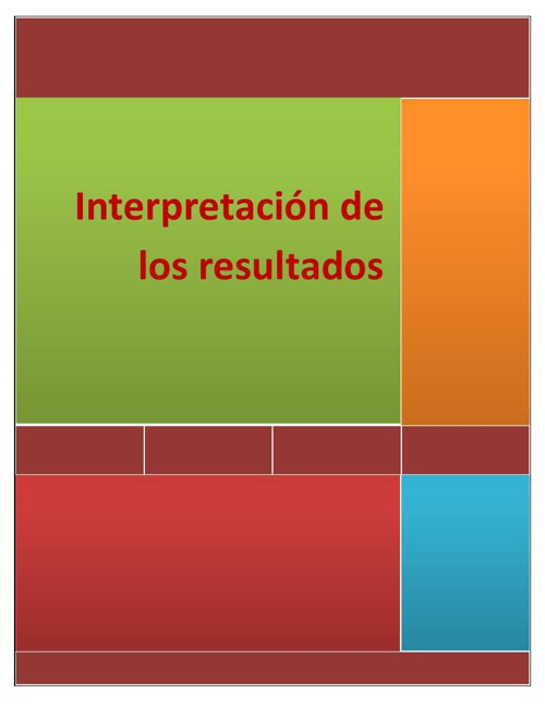 Interpretación de los resultados3