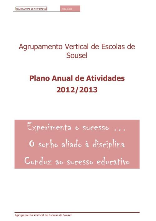 Plano Anual de Atividades 2012-2013