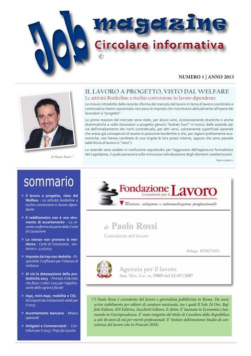 Job Magazine - gennaio 2013