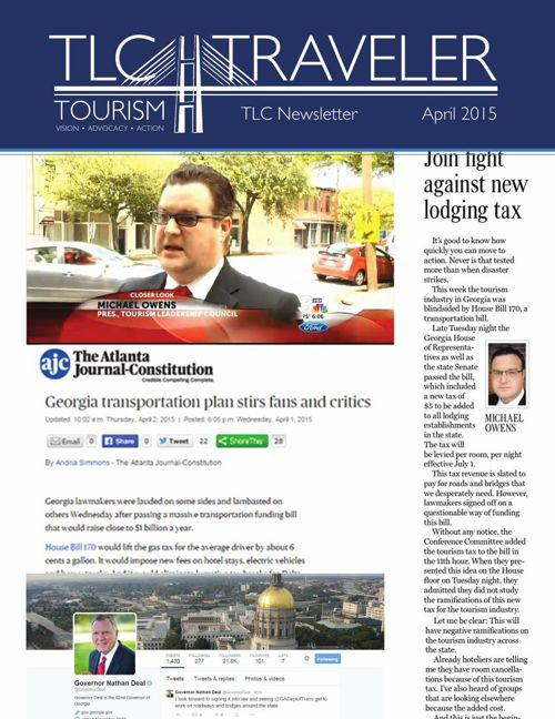April 2015 TLC Traveler