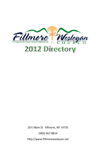 Fillmore Wesleyan Church Directory