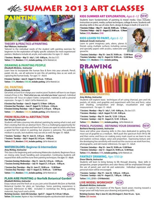2013 Summer Class Schedule