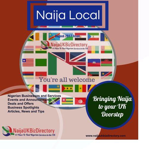 NaijaUKBizDirectory Monthly Newsletter Magazine -  August