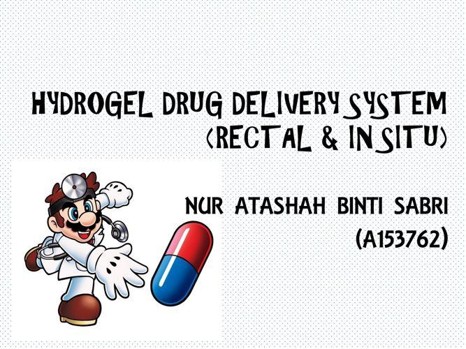 HYDROGEL DRUG DELIVERY SYSTEM