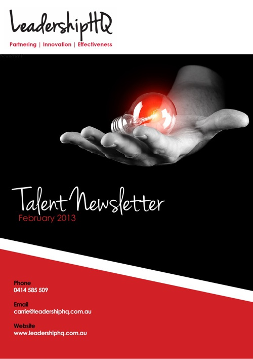 Talent Newsletter: February 2013