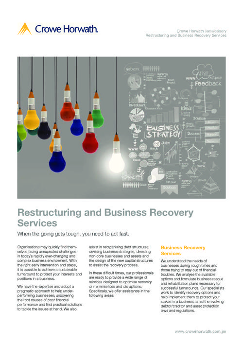 Jamaica - Restructuring and Business Recovery