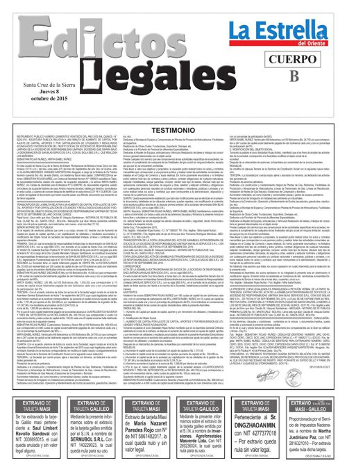 Judiciales 8 jueves - octubre 2015