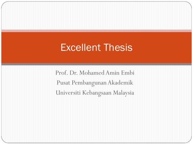 Excellent Thesis
