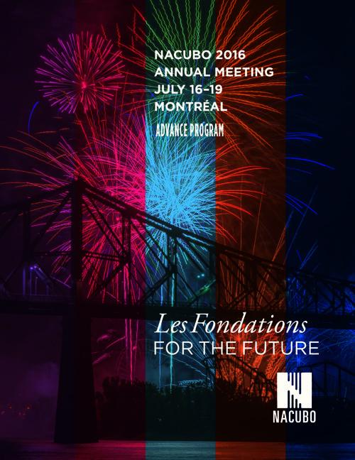 NACUBO 2016 Annual Meeting Advance Program