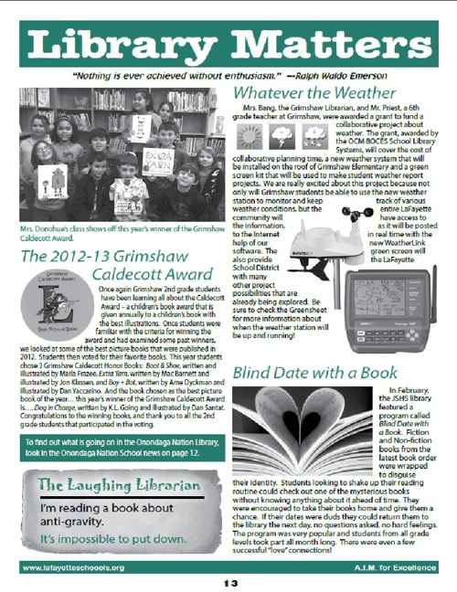 March 2013 Greensheet Library Page