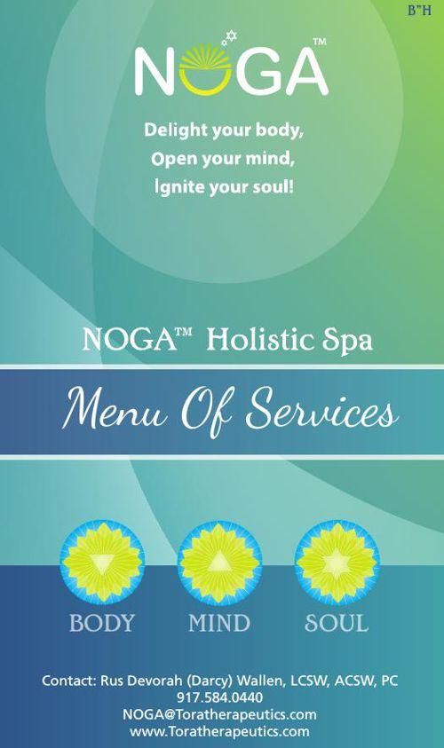 NOGA™ Holistic Spa Menu