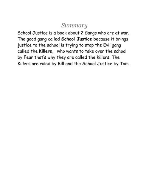 School Justice Book 1