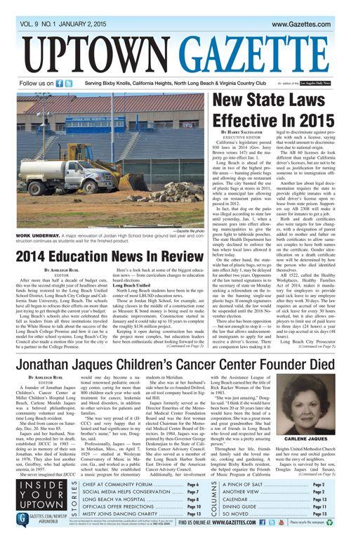Uptown Gazette  |  January 2, 2015