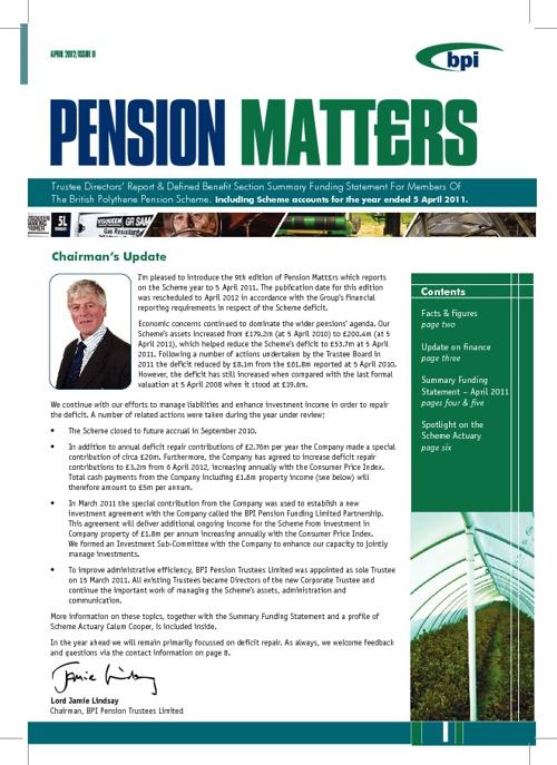 BPI Pension Matt£rs Issue 9