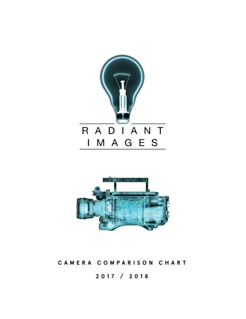 RADIANT IMAGES CAMERA COMPARISON CHART 2017-2018