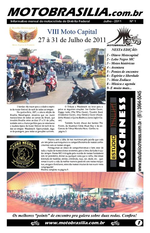 Jornal Moto Brasília - edição 01 - www.motobrasilia.com.br