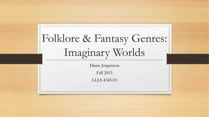 Folklore & Fantasy Genre Flipbook