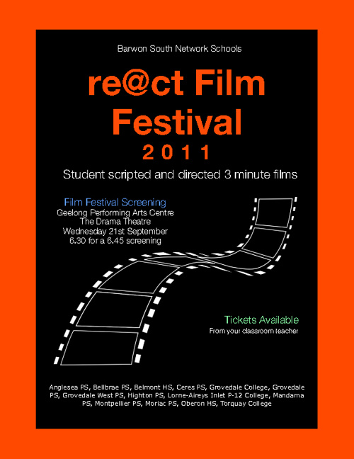React Film Festival 2011 Invitation