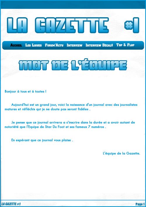 La Gazette #1