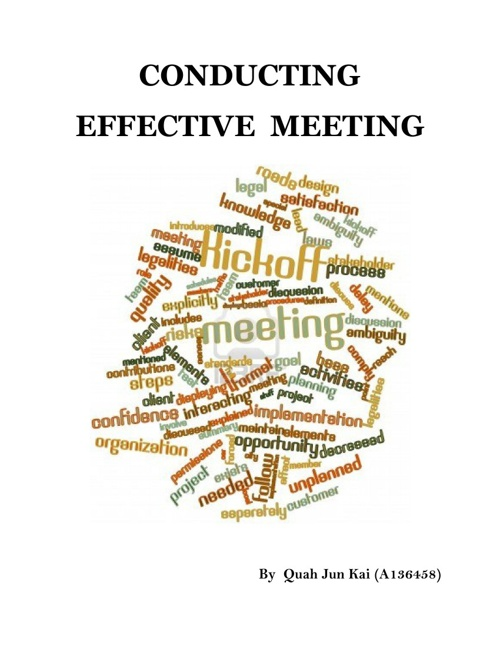 Conducting Effective Meeting
