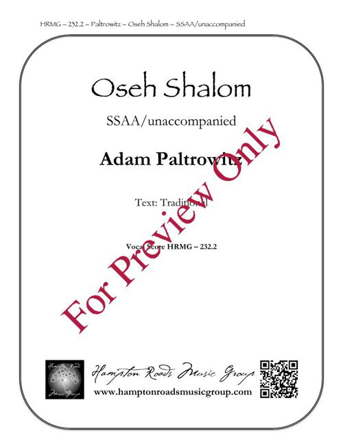 Oseh Shalom - SSAA - HRMG 232.2