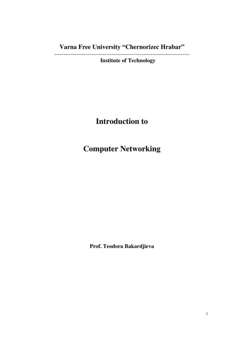 LA3 : COMPUTER NETWORKS AND COMMUNICATIONS
